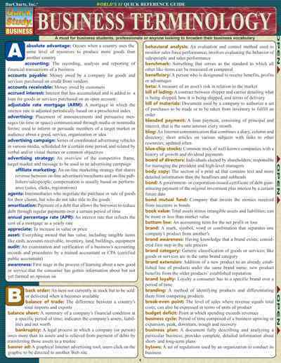 Business Terminology By Barcharts, Inc. (EDT)/ Scerbo, Jason
